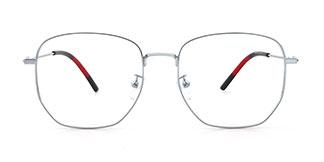 03690 Obharnait Geometric silver glasses