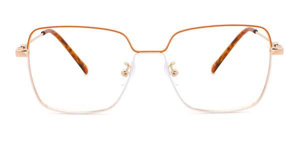 0510 rebecca Rectangle orange glasses