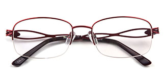 06101 Lyle Oval red glasses