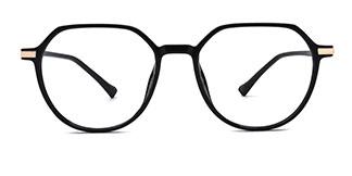 0871 Liana Geometric gold glasses