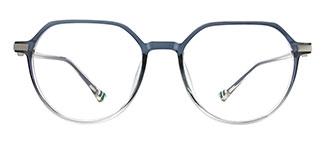 0871 Liana Geometric blue glasses