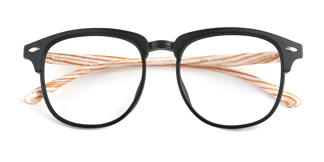 1003-1 Felicitie Round,Oval black glasses