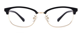 10081 Evelyn Rectangle black glasses