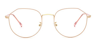 10089 Margaret Geometric pink glasses