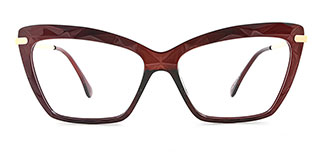 10102 Tina Cateye brown glasses