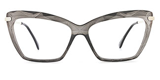 10102 Tina Cateye grey glasses