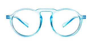 10111 Aisha Round blue glasses