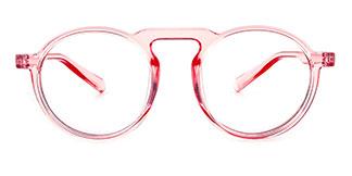 10111 Aisha Round pink glasses