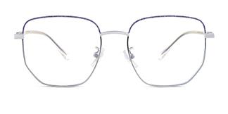 103001 Marcella Geometric blue glasses