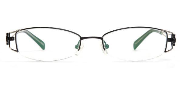 1035 Bardot Rectangle black glasses