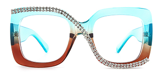 10690 Infinity Rectangle blue glasses