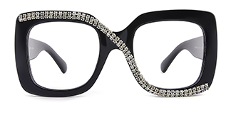 10690 Infinity Rectangle black glasses