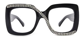 10690 Infinity Rectangle black glasses