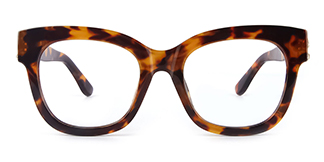 1107 Tanya Rectangle tortoiseshell glasses