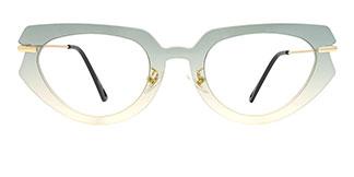 1126 Giovvana Cateye green glasses