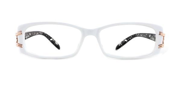 1189 Galina Rectangle white glasses