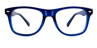 123 Amiel Rectangle blue glasses