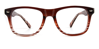 123 Amiel Rectangle brown glasses