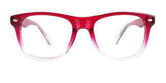 123 Amiel Rectangle red glasses