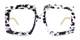 12365 Vivien Rectangle white glasses