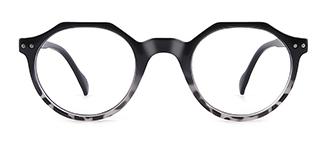 12471 Holly Geometric black glasses
