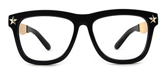 12484 Antonietta Rectangle black glasses