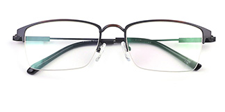 1266 Marcy Rectangle black glasses