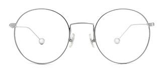 1275 Hadassah Oval silver glasses