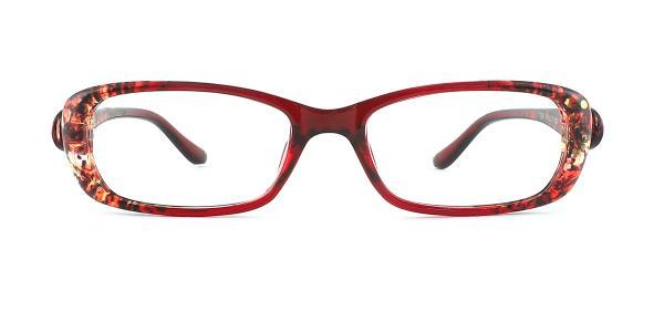 13156 Lara Rectangle red glasses
