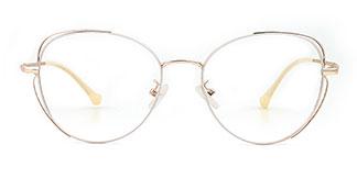 13441 Gerrilynn Cateye white glasses