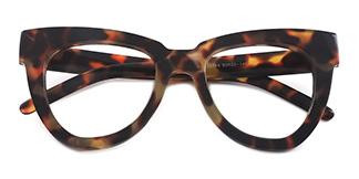 1374-1 Walta Cateye,Oval tortoiseshell glasses