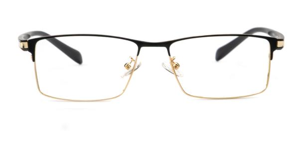 148 Johnny Rectangle gold glasses