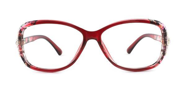 1496 Mavis Rectangle red glasses