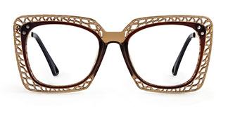 15221 Christine Rectangle brown glasses
