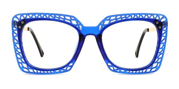 15221 Christine Rectangle blue glasses