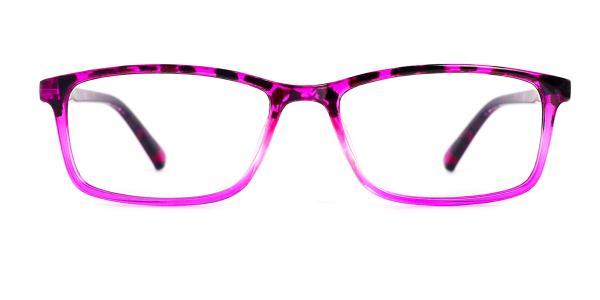 15261 Bella Rectangle purple glasses