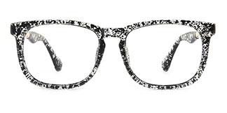 1537 Ianna Rectangle black glasses