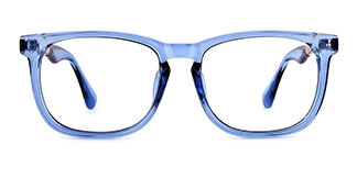 1537 Madeleine Rectangle blue glasses