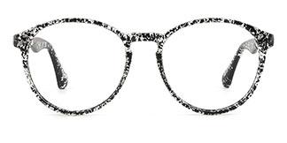 1538 Iantha Round black glasses