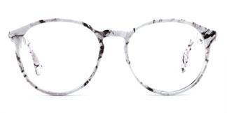 1538 Iantha Oval white glasses
