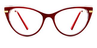 15404 Birdie Cateye red glasses