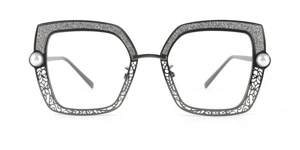 15472 Xela Rectangle black glasses