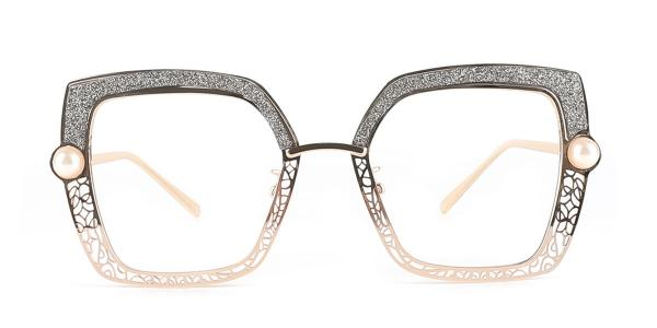 15472 Xela Rectangle grey glasses