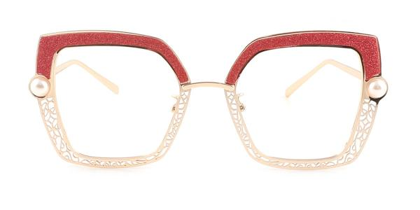 15472 Xela Rectangle red glasses
