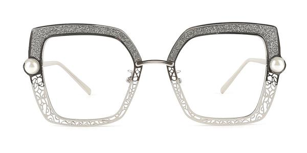 15472 Xela Rectangle silver glasses