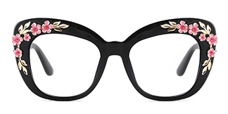 1565 Tropic Cateye black glasses