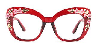 1565 Tropic Cateye red glasses