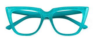 15762 Elizabeth Cateye green glasses