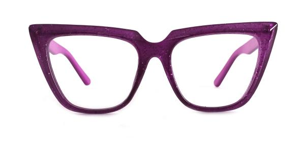 15762 Elizabeth Cateye purple glasses