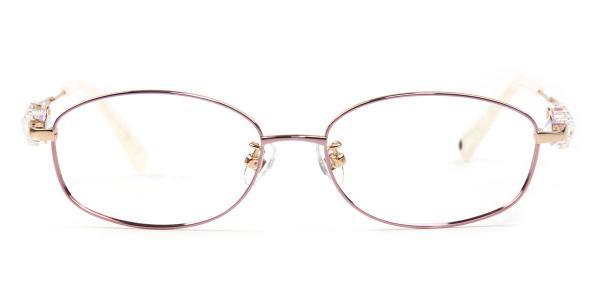 162014 Florrie Oval white glasses